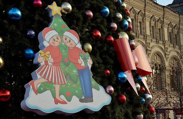 В Москве установили праздничные плакаты, фото-1
